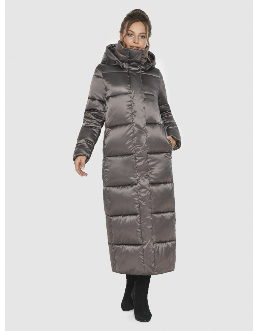 Подростковая куртка зимняя Ajento капучиновая 21972 фото 6