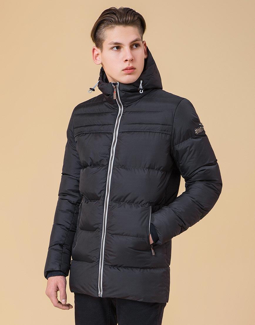 Практичная куртка с капюшоном подростковая цвет графит-серый модель 71293 оптом
