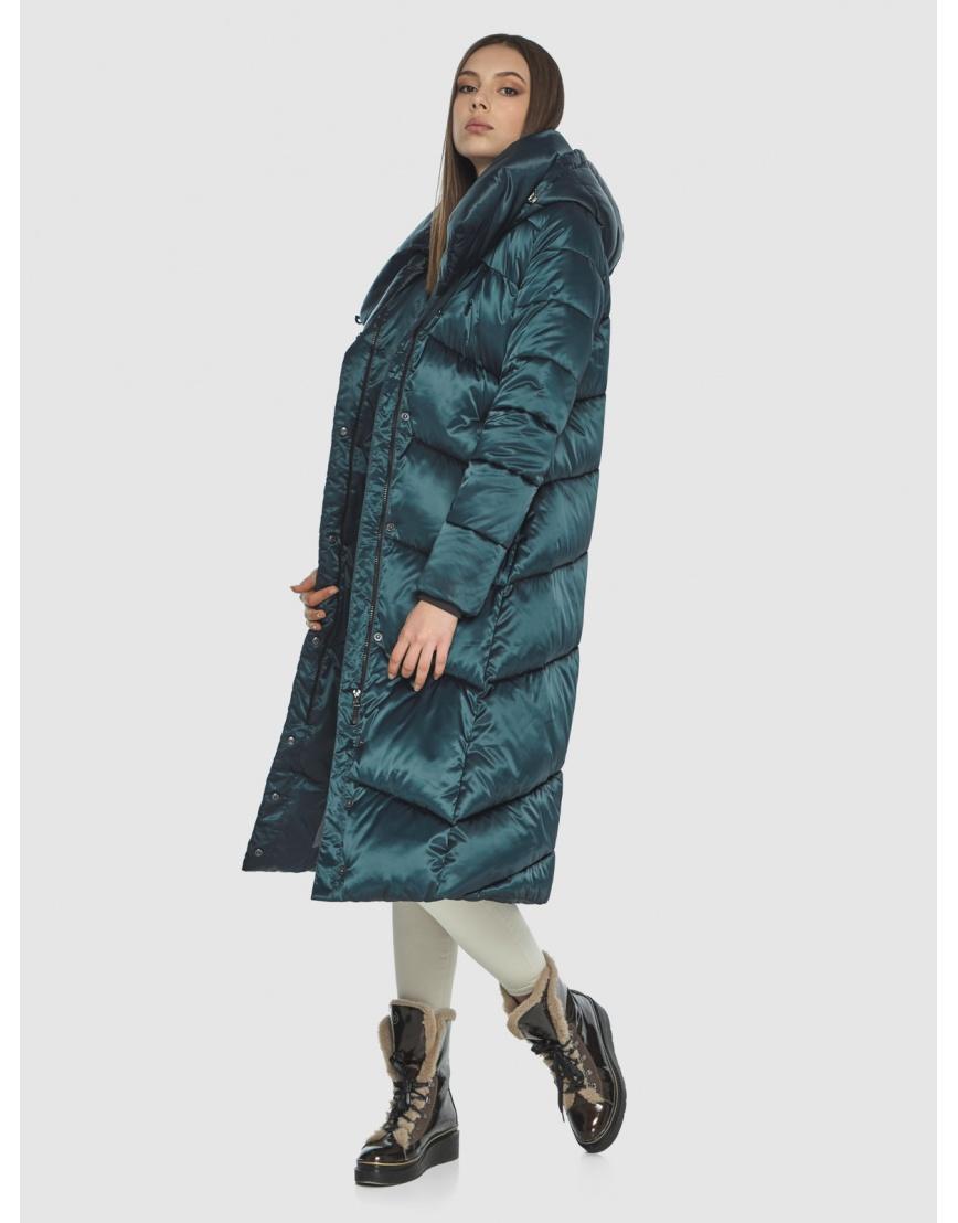 Длинная женская зелёная куртка Wild Club 514-35 фото 2