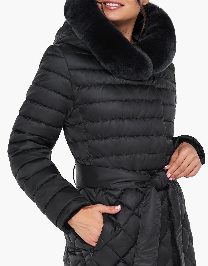 Непромокаемый женский зимний воздуховик Braggart цвет черный модель 31012 фото 6