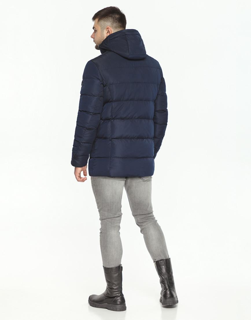 Темно-синяя куртка удобная на зиму модель 36570 фото 4