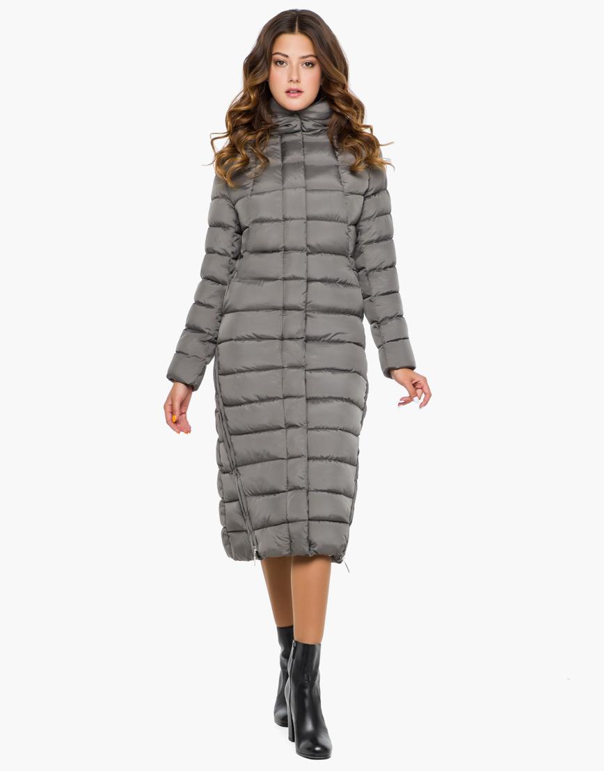 Женская теплая серая куртка модель 7789