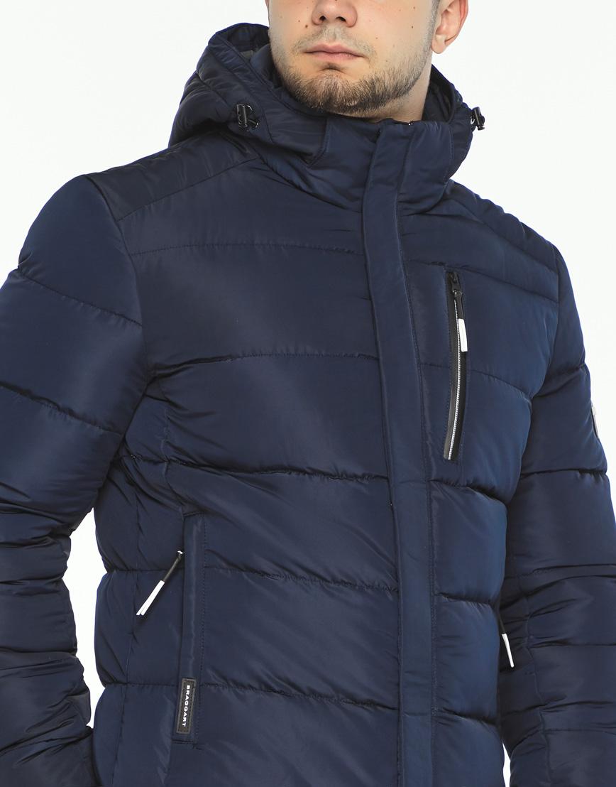 Темно-синяя куртка удобная на зиму модель 36570 фото 5
