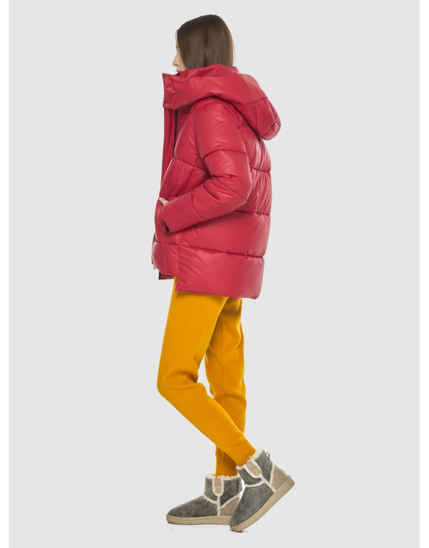 Красная короткая куртка женская Vivacana 7354/21 фото 3