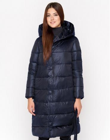 Комфортная куртка синего цвета женская модель 818