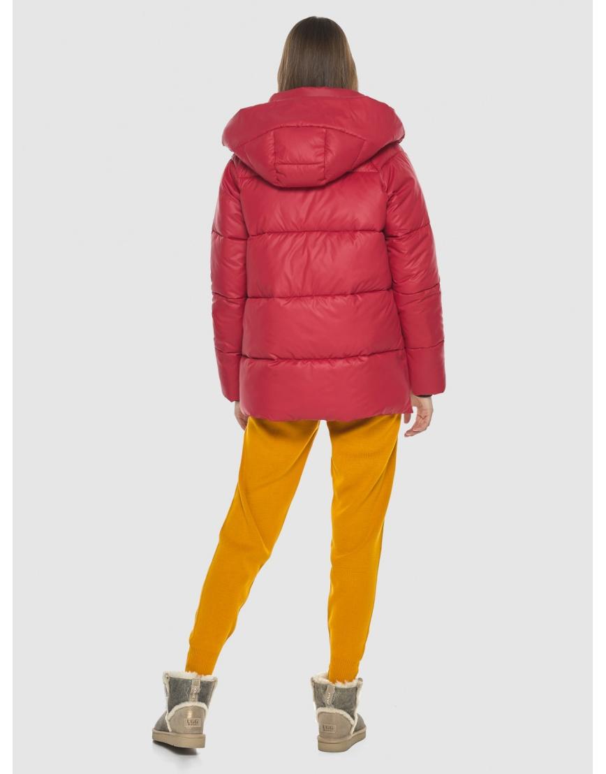 Красная короткая куртка женская Vivacana 7354/21 фото 4