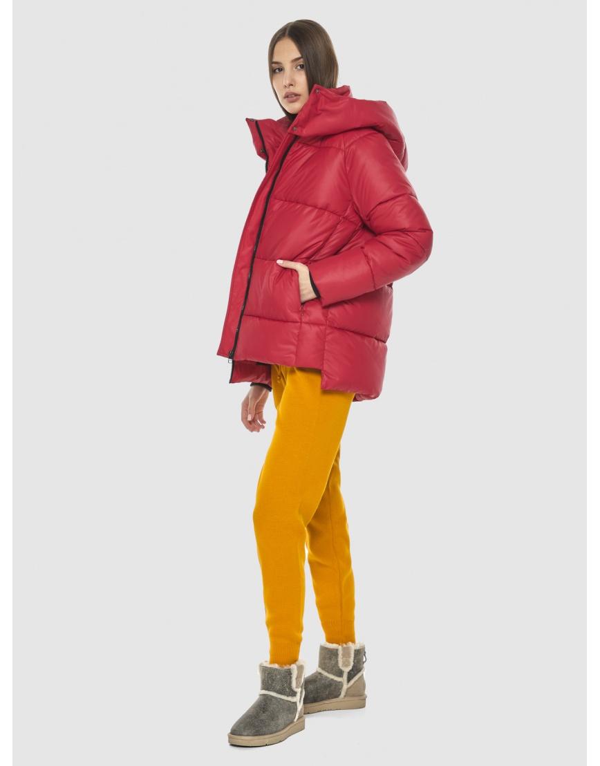 Красная короткая куртка женская Vivacana 7354/21 фото 5