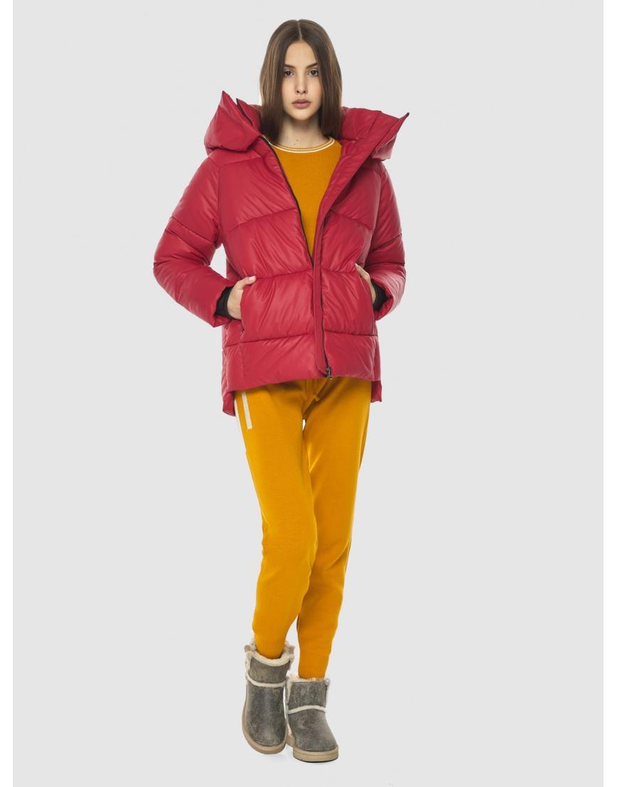 Красная короткая куртка женская Vivacana 7354/21 фото 1