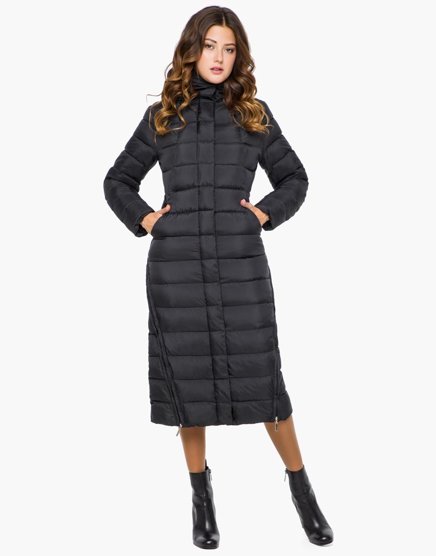 Куртка с карманами женская цвет черный модель 7789