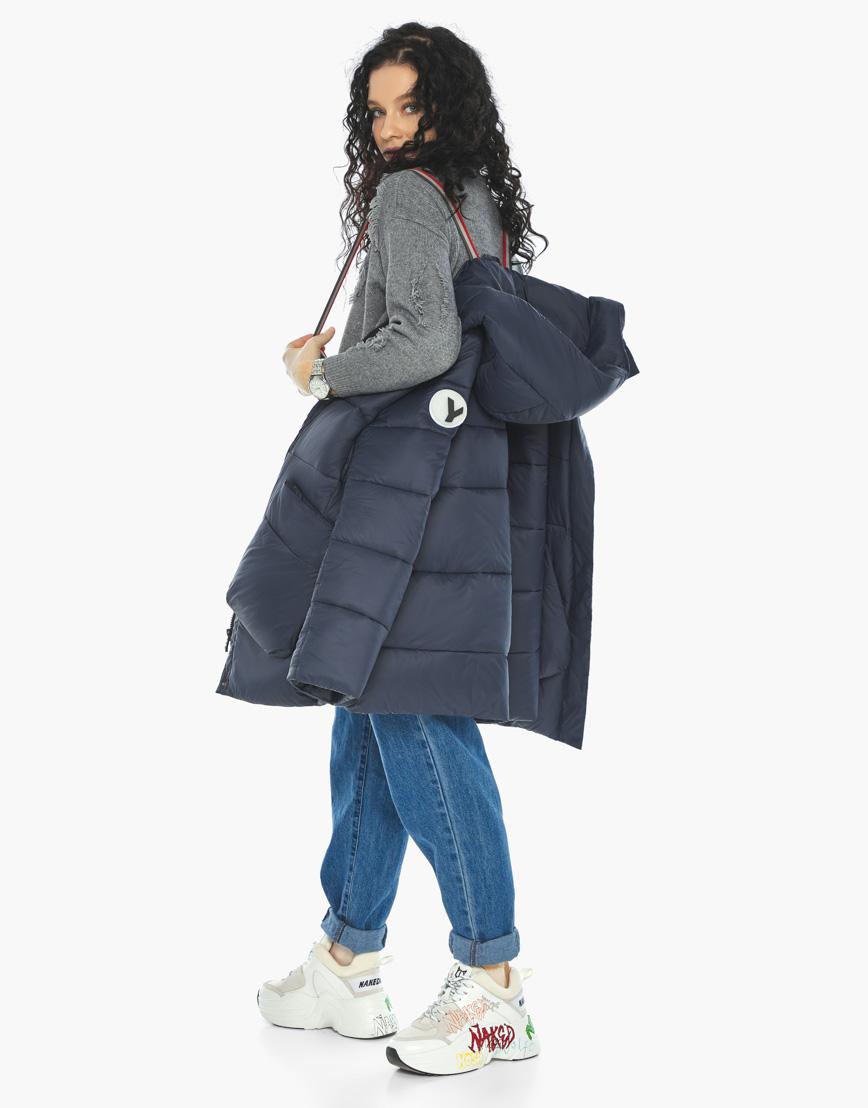 Куртка пуховик Youth молодежный темно-синий трендовый модель 25680 фото 3