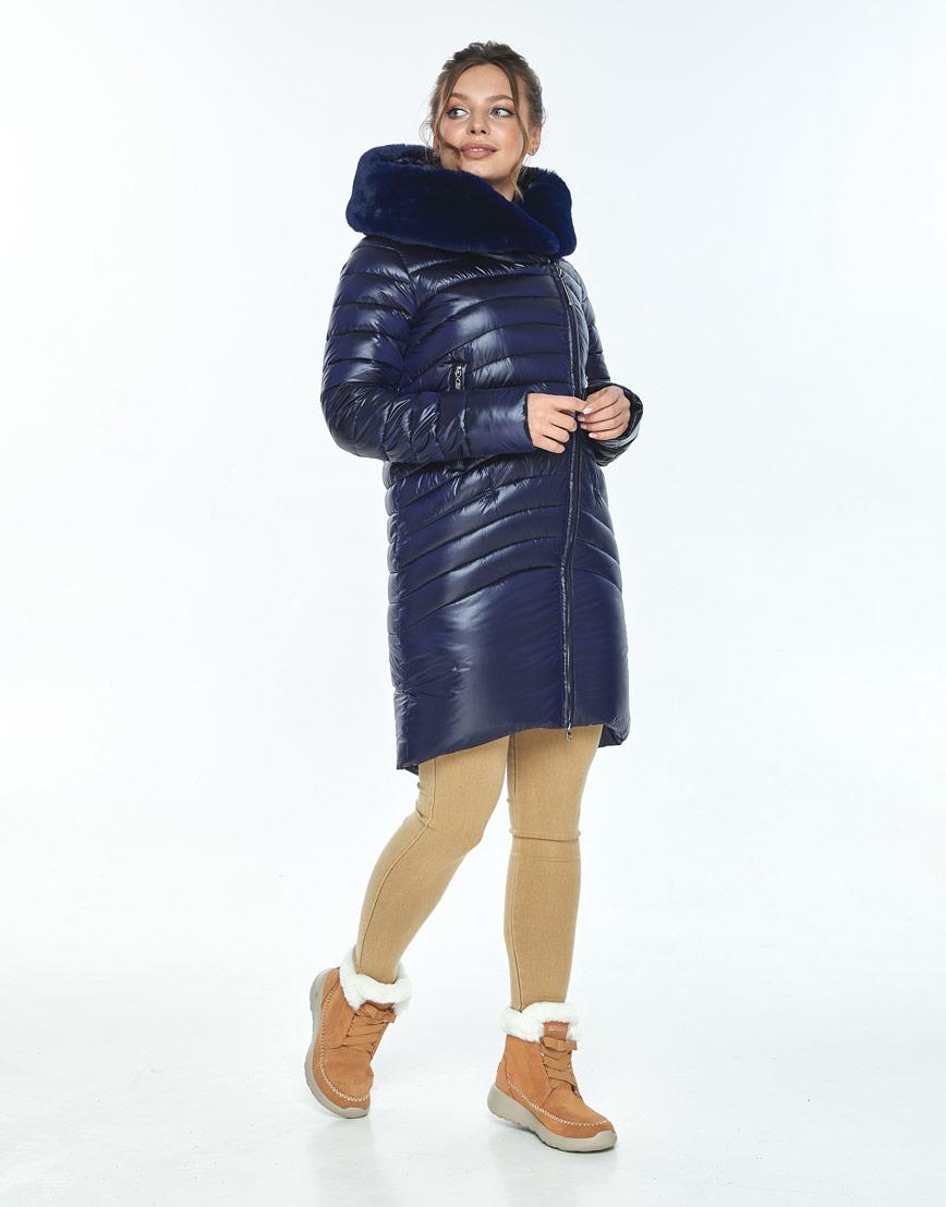 Куртка на молнии женская Ajento синяя зимняя 24138 фото 1