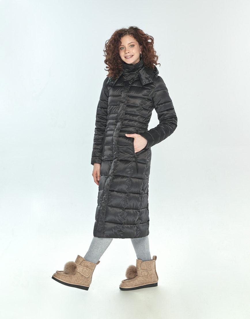 Фирменная зимняя куртка большого размера Moc женская чёрная M6430 фото 2