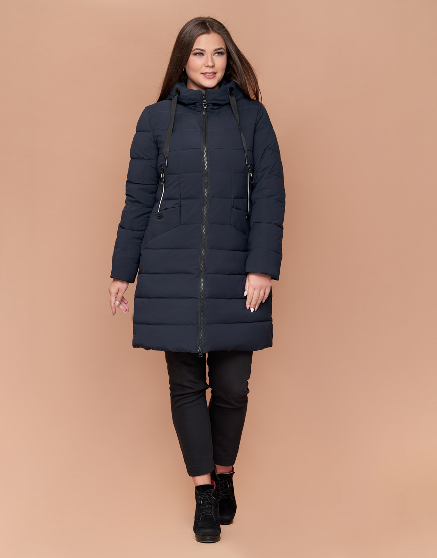 Темно-синяя женская куртка удобная модель 25275 фото 2