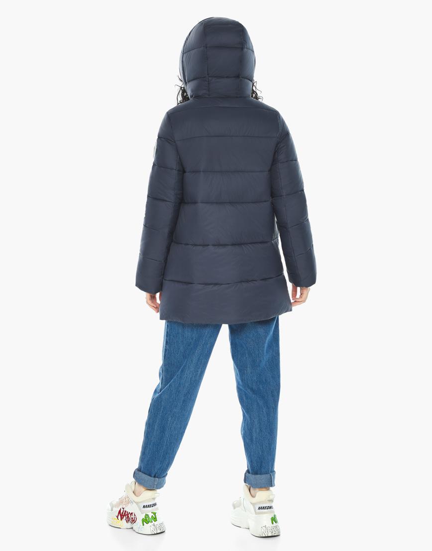 Куртка пуховик Youth молодежный темно-синий трендовый модель 25680 фото 6