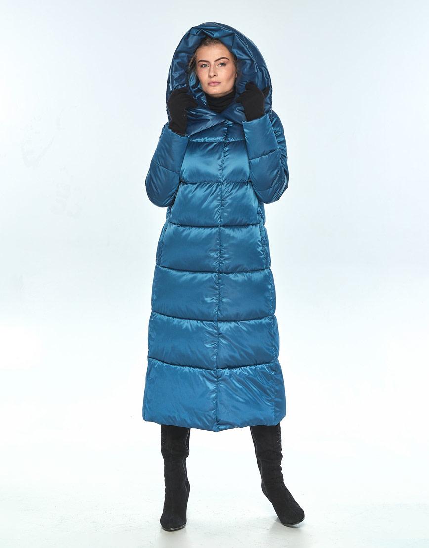 Куртка с карманами женская Ajento аквамариновая 21550 фото 2