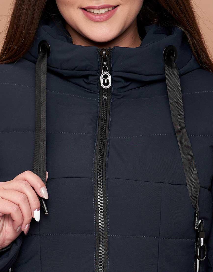 Темно-синяя женская куртка удобная модель 25275 фото 5