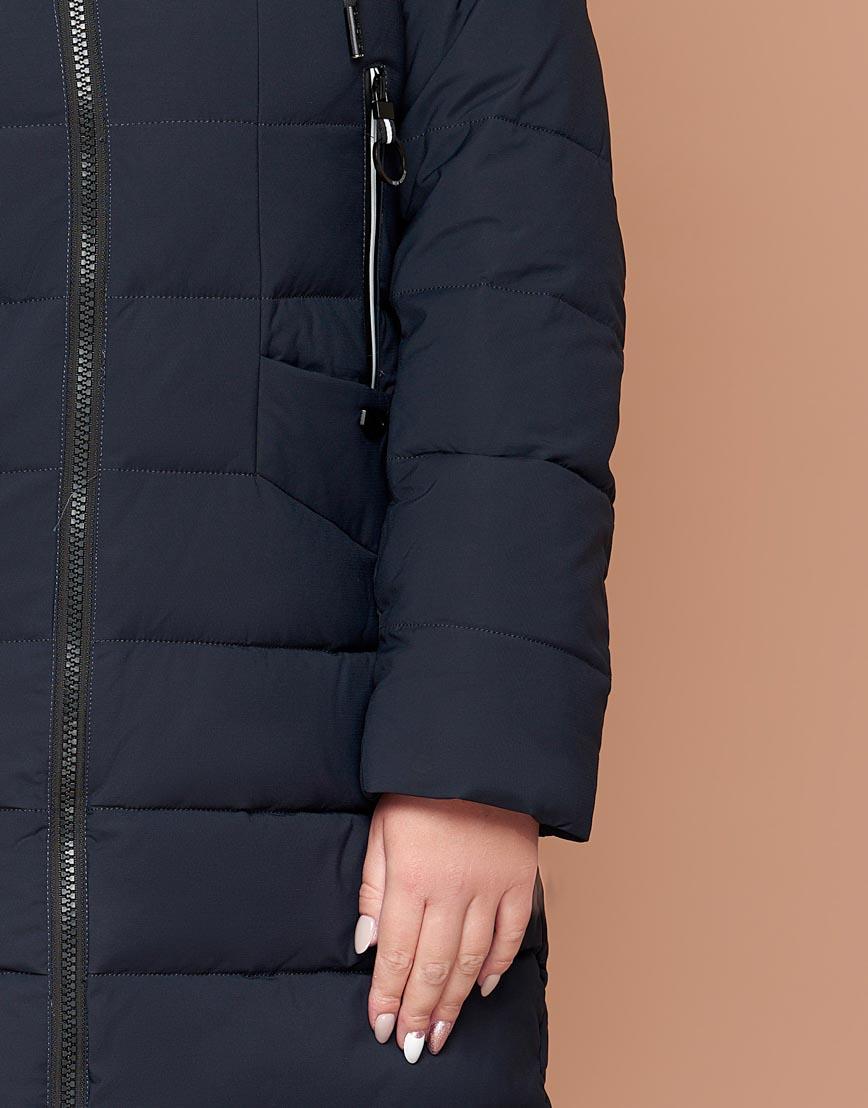 Темно-синяя женская куртка удобная модель 25275 фото 6