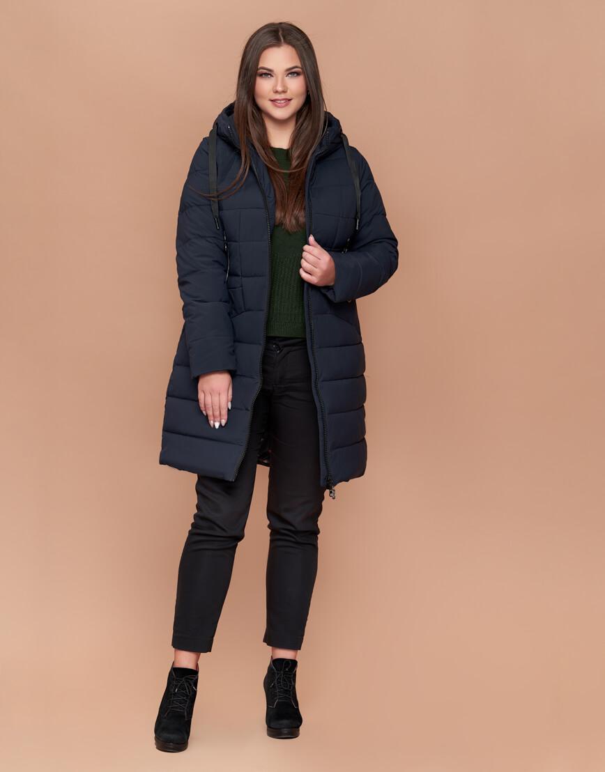 Темно-синяя женская куртка удобная модель 25275 фото 1