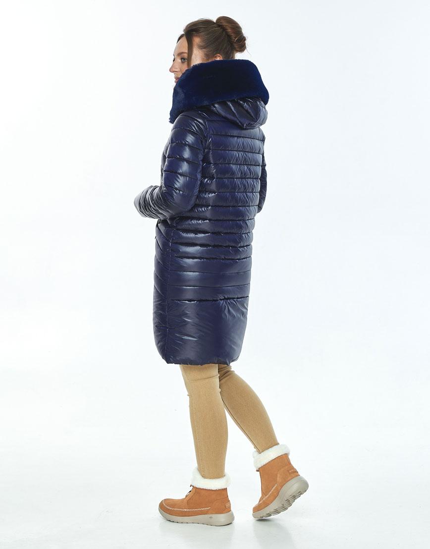 Куртка на молнии женская Ajento синяя зимняя 24138 фото 3