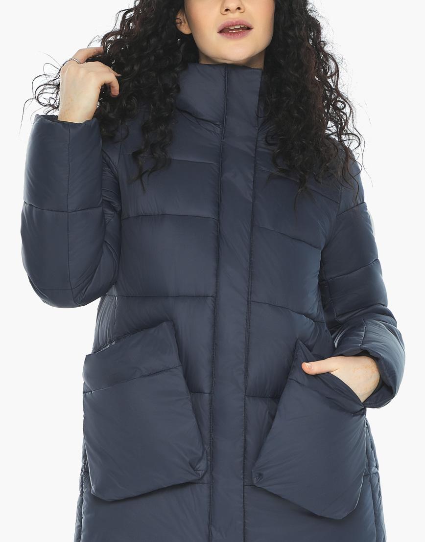 Куртка пуховик Youth молодежный темно-синий трендовый модель 25680 фото 7