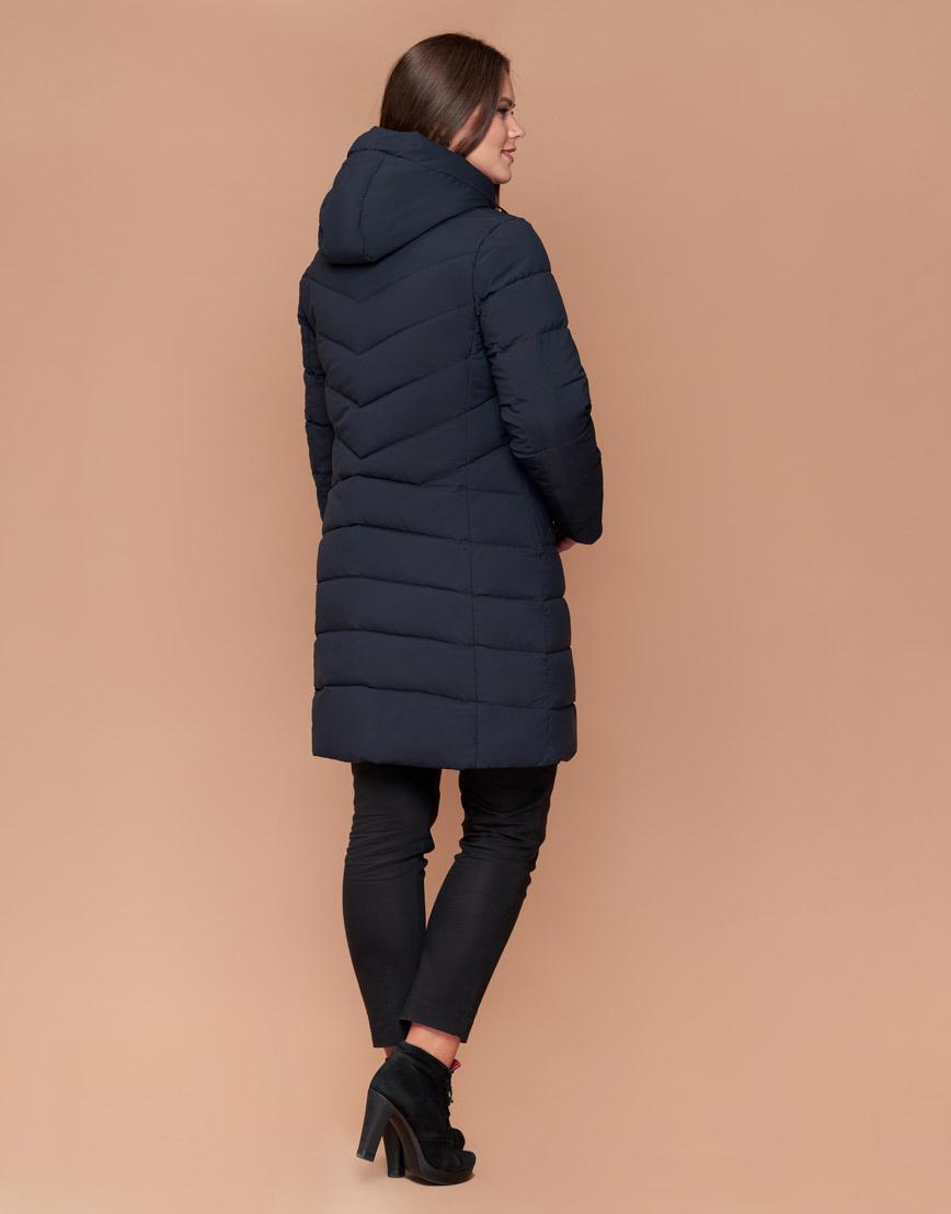 Темно-синяя женская куртка удобная модель 25275 фото 4