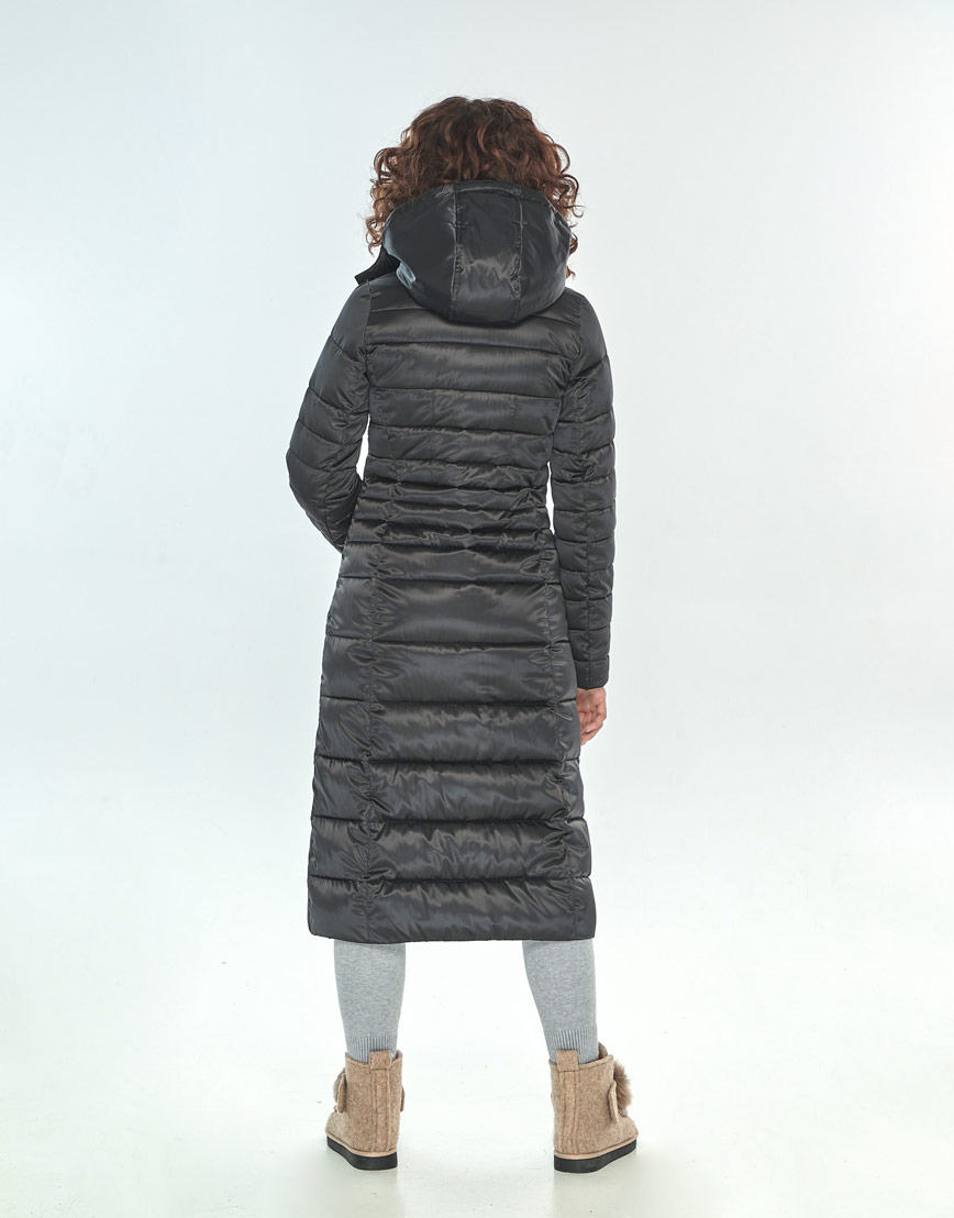 Фирменная зимняя куртка большого размера Moc женская чёрная M6430 фото 3