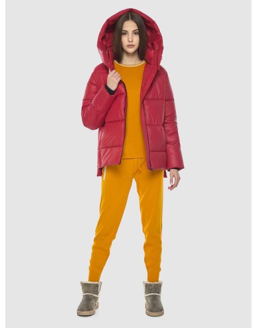 Красная короткая куртка женская Vivacana 7354/21 фото 6