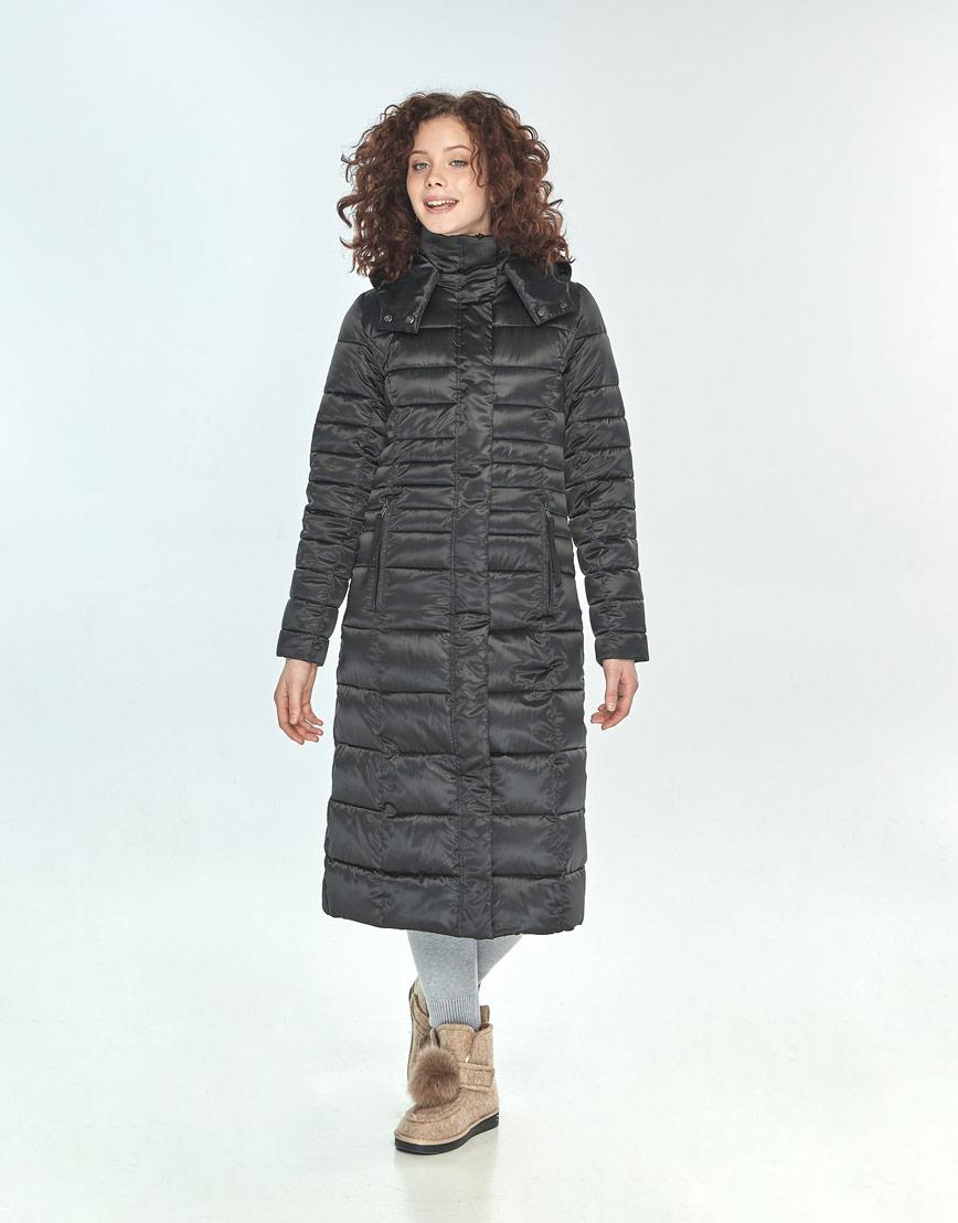 Фирменная зимняя куртка большого размера Moc женская чёрная M6430 фото 1