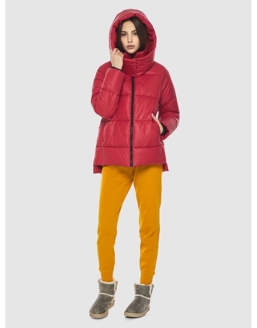 Красная короткая куртка женская Vivacana 7354/21 фото 2