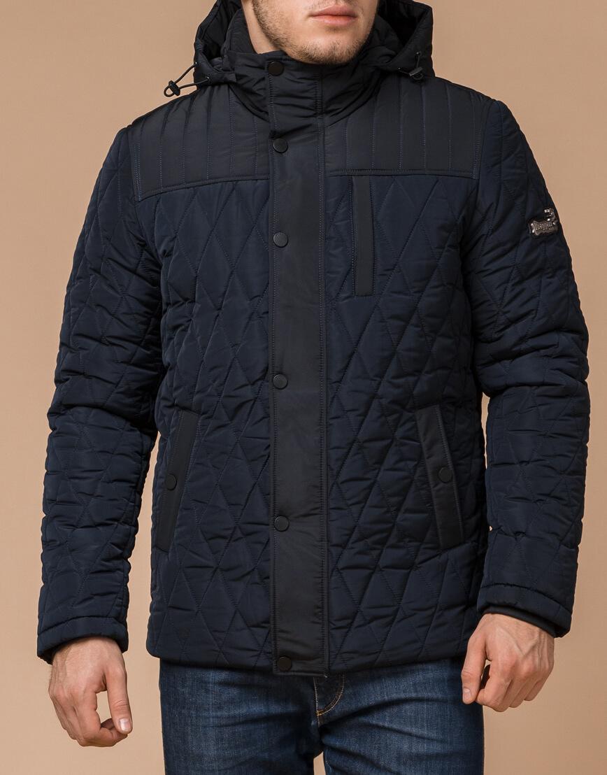 Мужская зимняя куртка синего цвета модель 30538 оптом