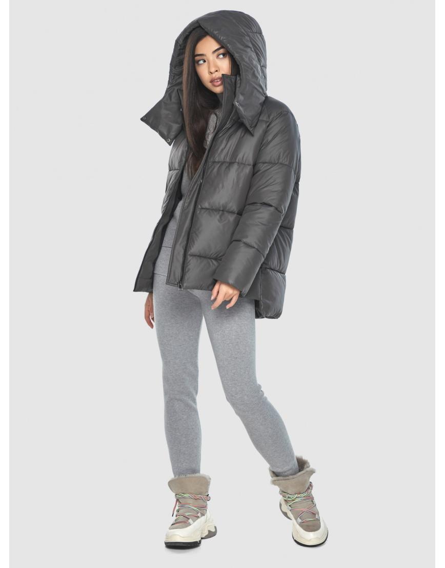 Серая стильная куртка женская Moc M6212 фото 2