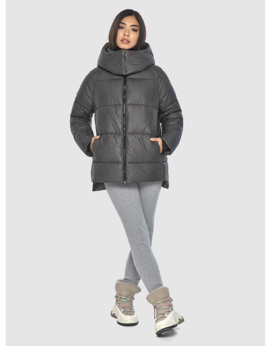 Серая стильная куртка женская Moc M6212 фото 6