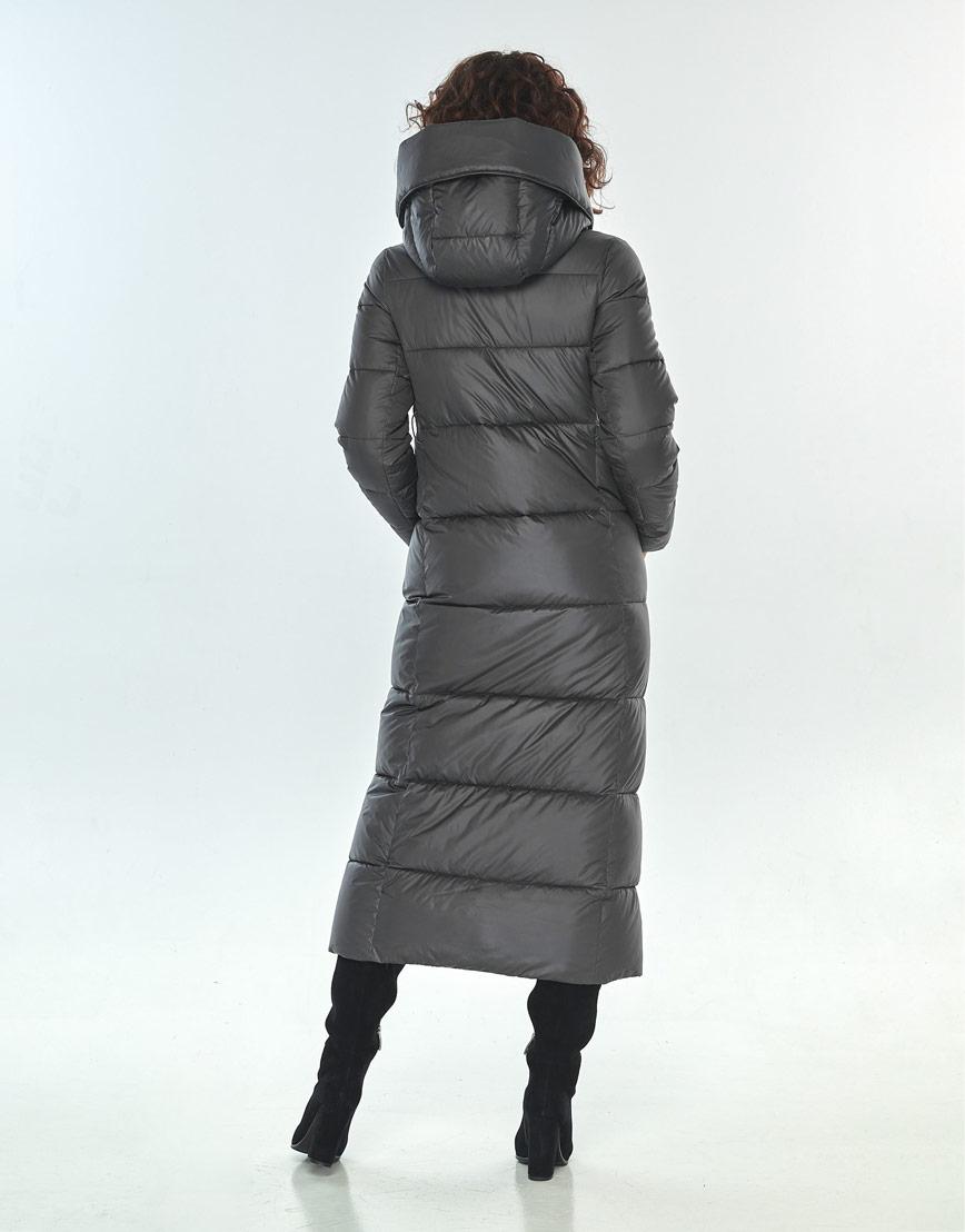Комфортная куртка Moc женская для зимы серая M6321 фото 3