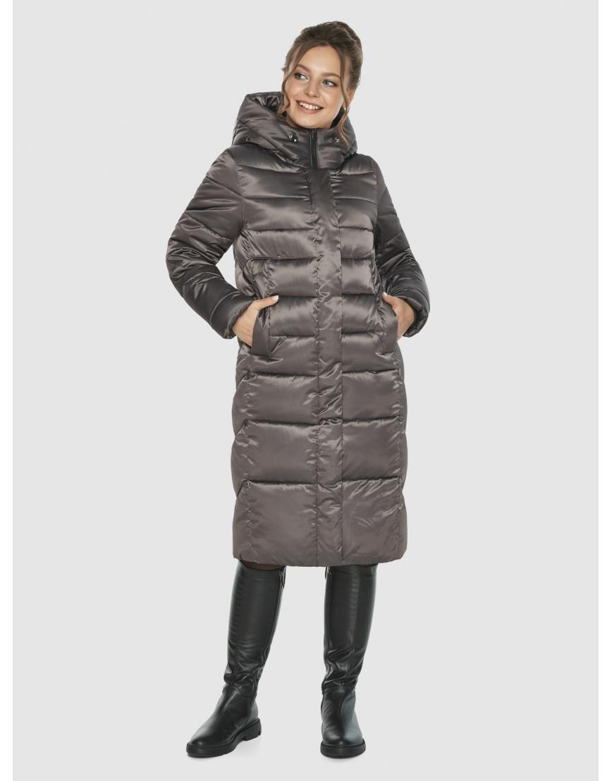 Капучиновая удобная куртка Ajento зимняя для подростков 22975 фото 5