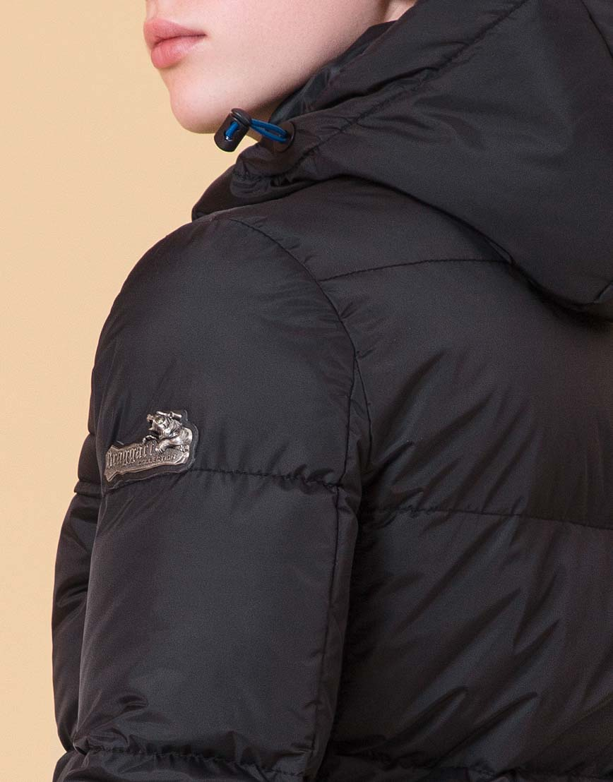 Детская куртка цвет черный-электрик модель 65122 фото 7