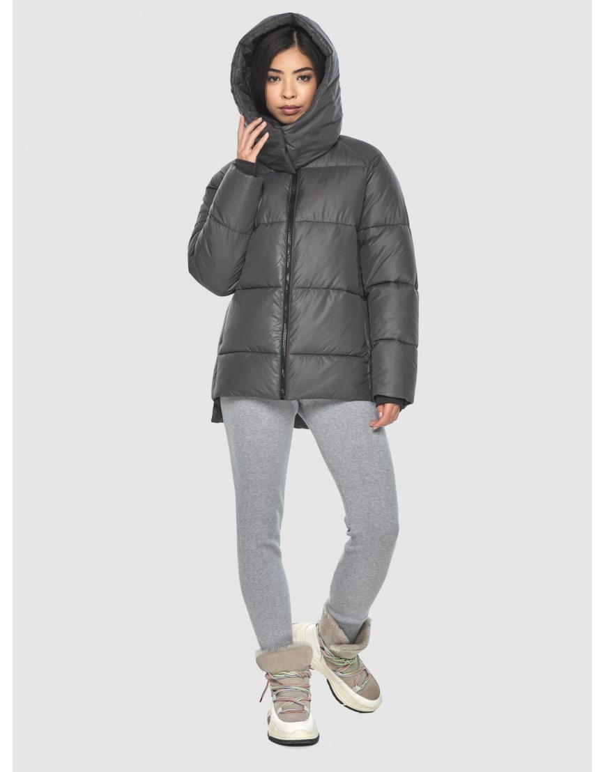 Серая стильная куртка женская Moc M6212 фото 5