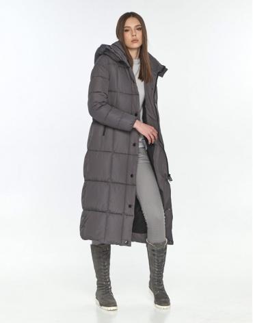 Длинная серая куртка женская Wild Club 541-74 фото 1