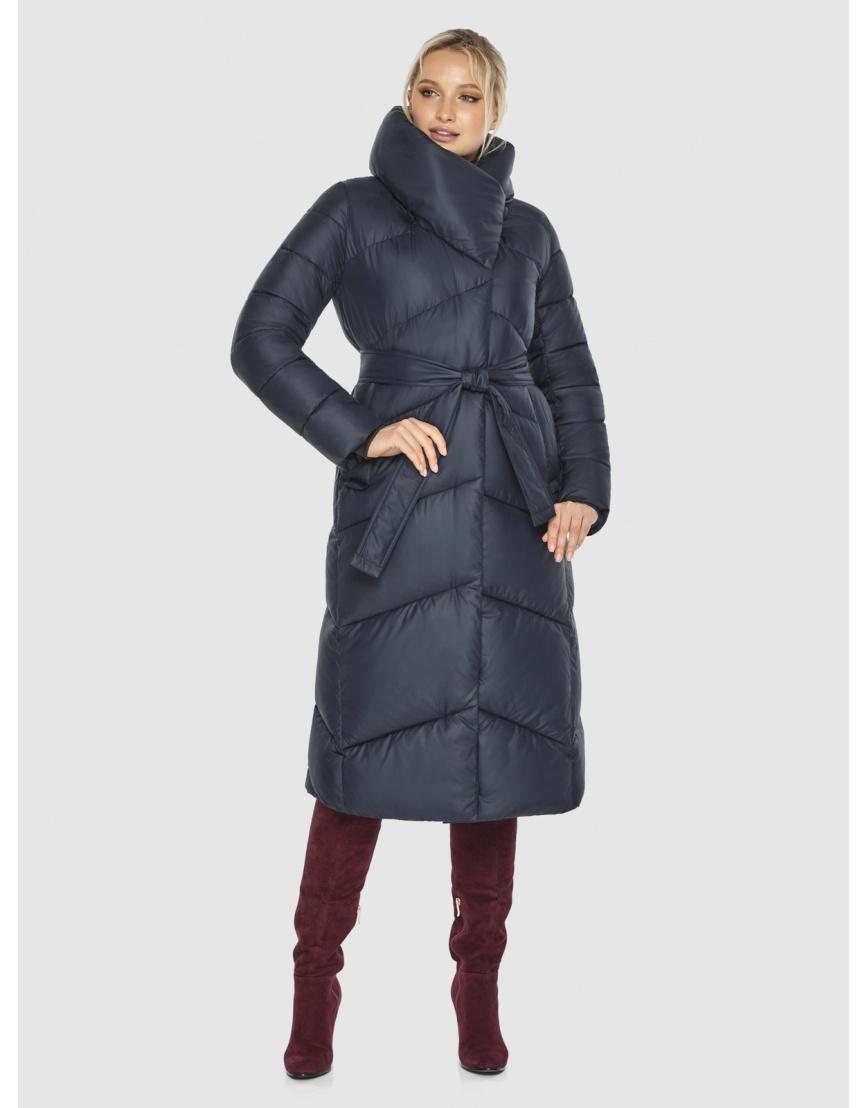 Длинная брендовая куртка женская Kiro Tokao синяя 60035 фото 5
