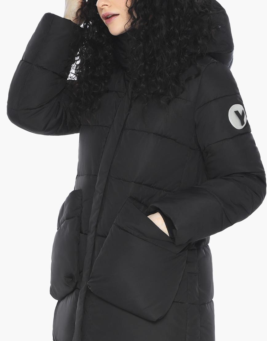 Пуховик куртка Youth молодежная комфортная цвет черный модель 25680 фото 8