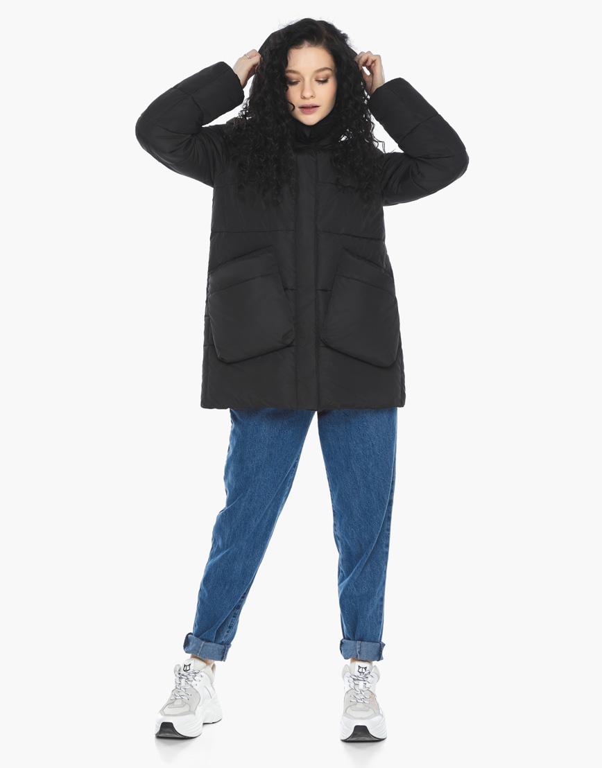 Пуховик куртка Youth молодежная комфортная цвет черный модель 25680 фото 4