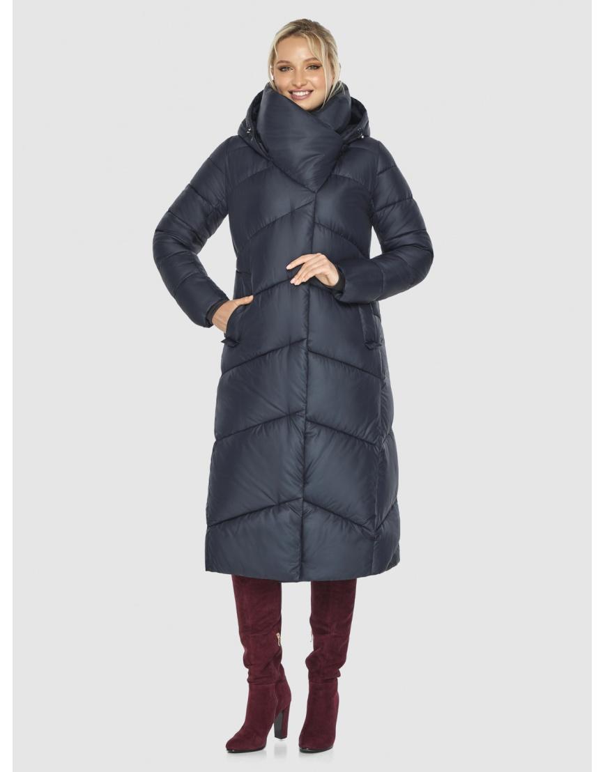 Длинная брендовая куртка женская Kiro Tokao синяя 60035 фото 3