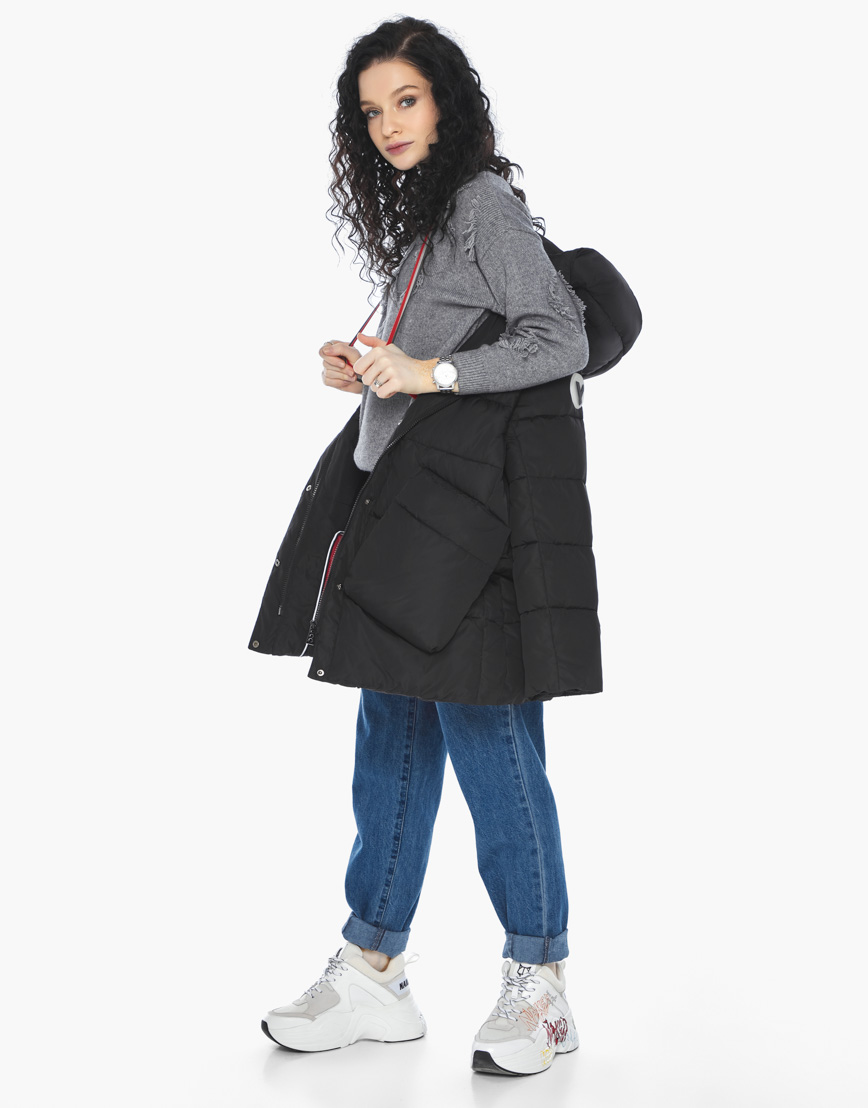 Пуховик куртка Youth молодежная комфортная цвет черный модель 25680 фото 3