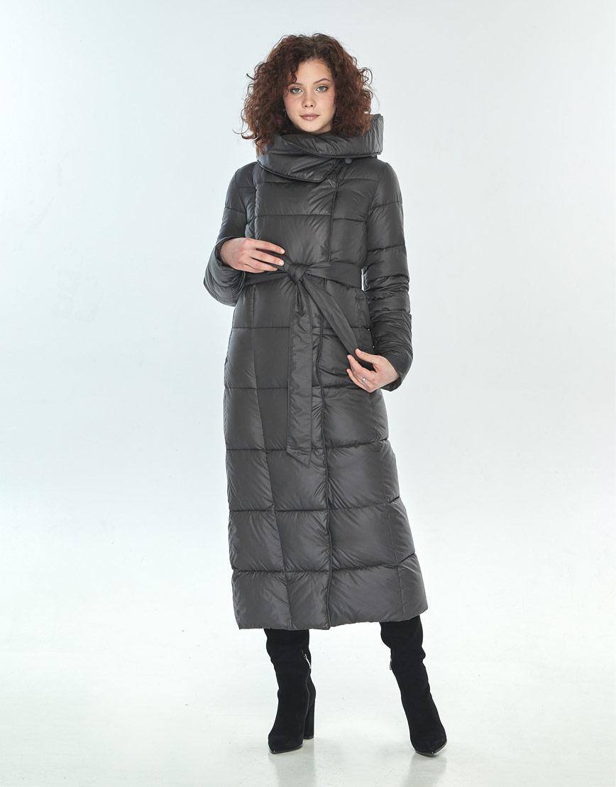 Комфортная куртка Moc женская для зимы серая M6321 фото 1