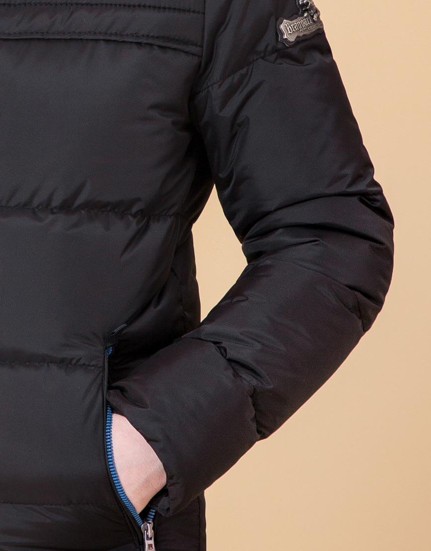 Детская куртка цвет черный-электрик модель 65122 фото 6
