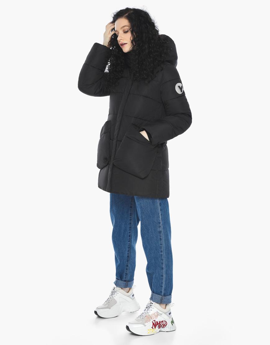 Пуховик куртка Youth молодежная комфортная цвет черный модель 25680 фото 6