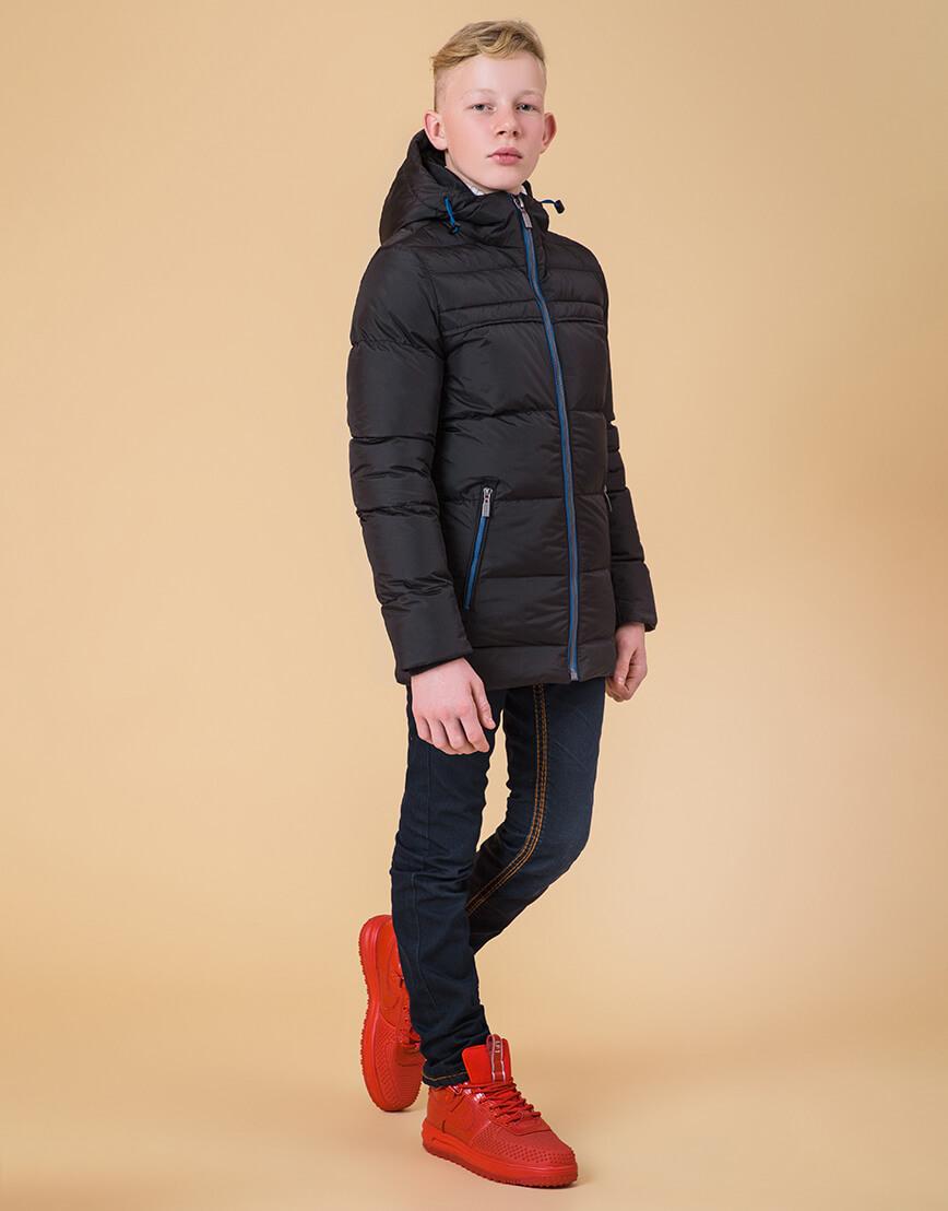 Детская куртка цвет черный-электрик модель 65122 фото 1