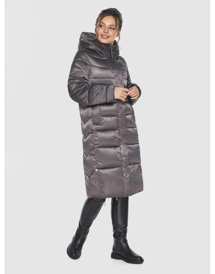 Капучиновая удобная куртка Ajento зимняя для подростков 22975 фото 2