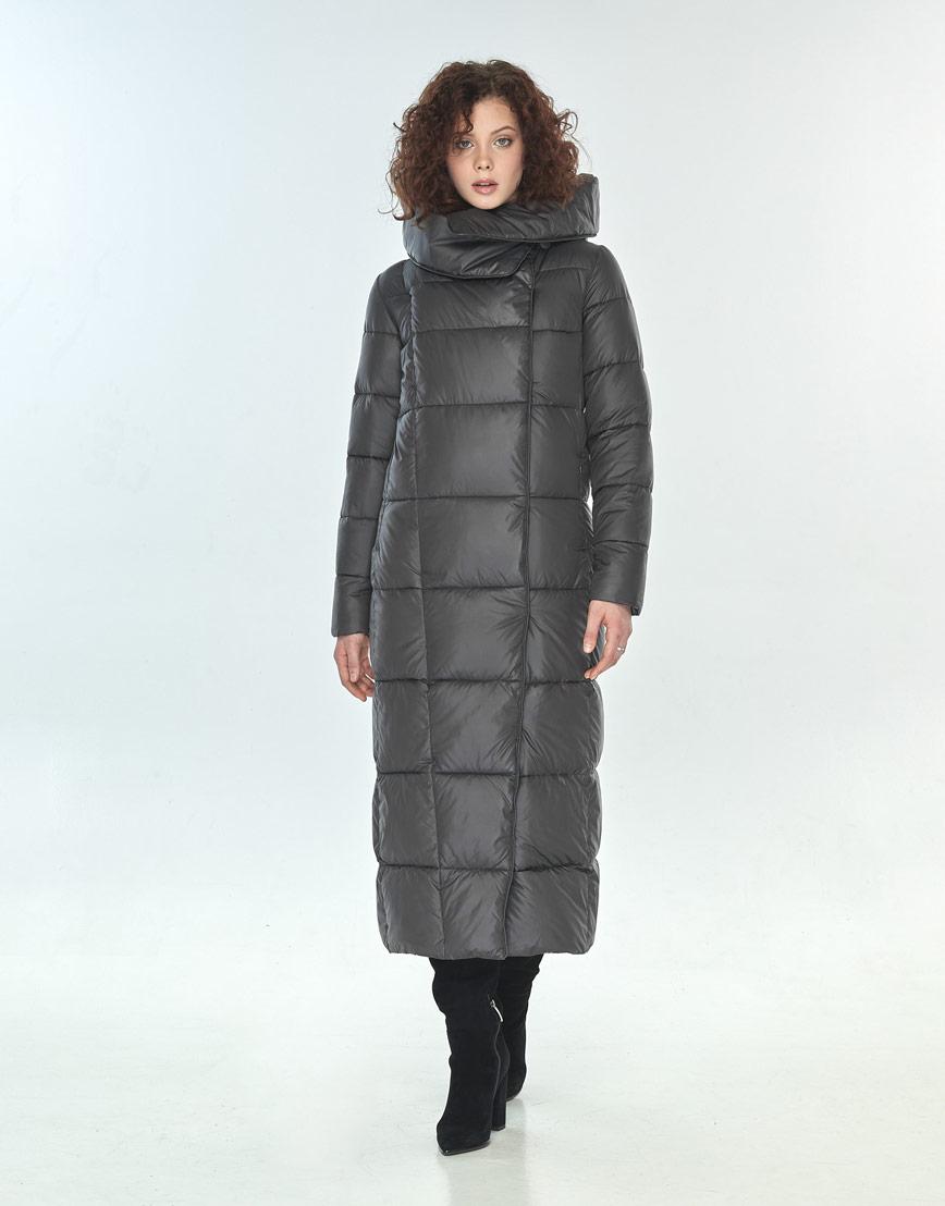 Комфортная куртка Moc женская для зимы серая M6321 фото 2