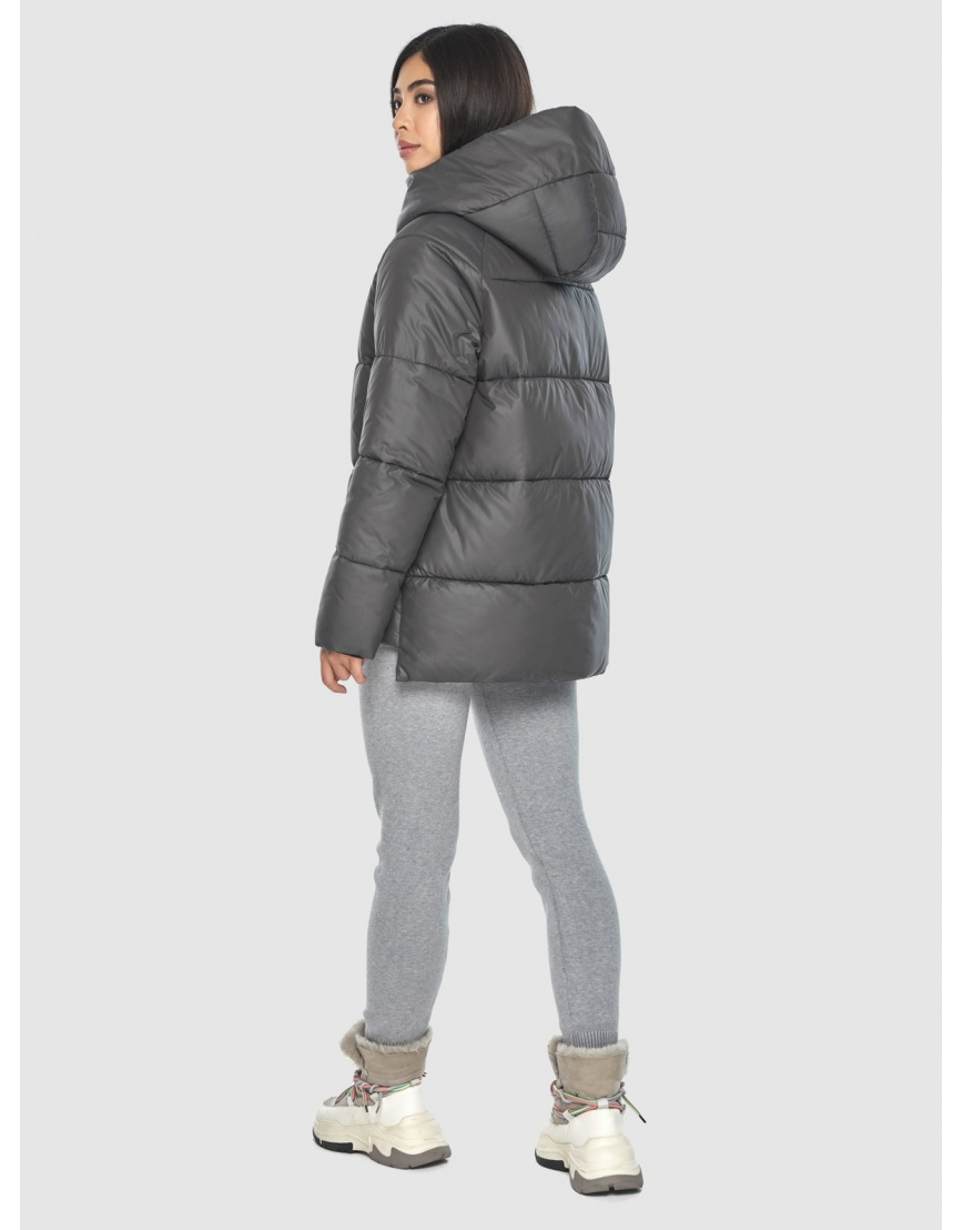 Серая стильная куртка женская Moc M6212 фото 4