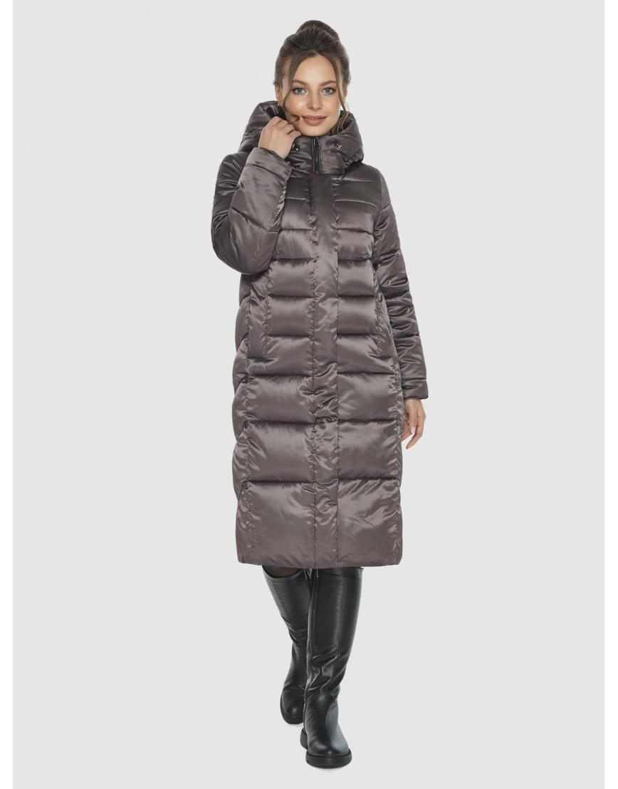 Капучиновая удобная куртка Ajento зимняя для подростков 22975 фото 6